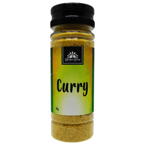 Tempero Curry 80g - Kampo de Ervas  - Raiz Nativa - Loja de Produtos Naturais e Orgânicos Online