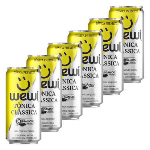 Tonica Orgânica Clássica Lata 269ml - Wewi (6 latas)  - Raiz Nativa - Loja de Produtos Naturais e Orgânicos Online