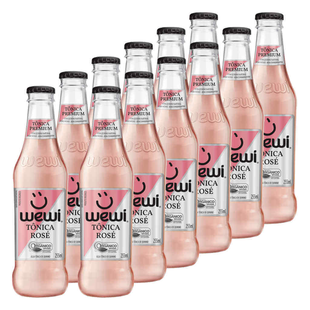Tônica Rosé Orgânica 255ml - Wewi (12 garrafas)