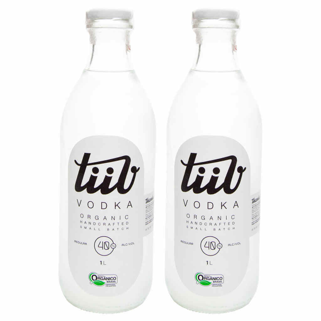 Vodka Orgânica 1L - TiiV (Kit c/ 2 unidades)