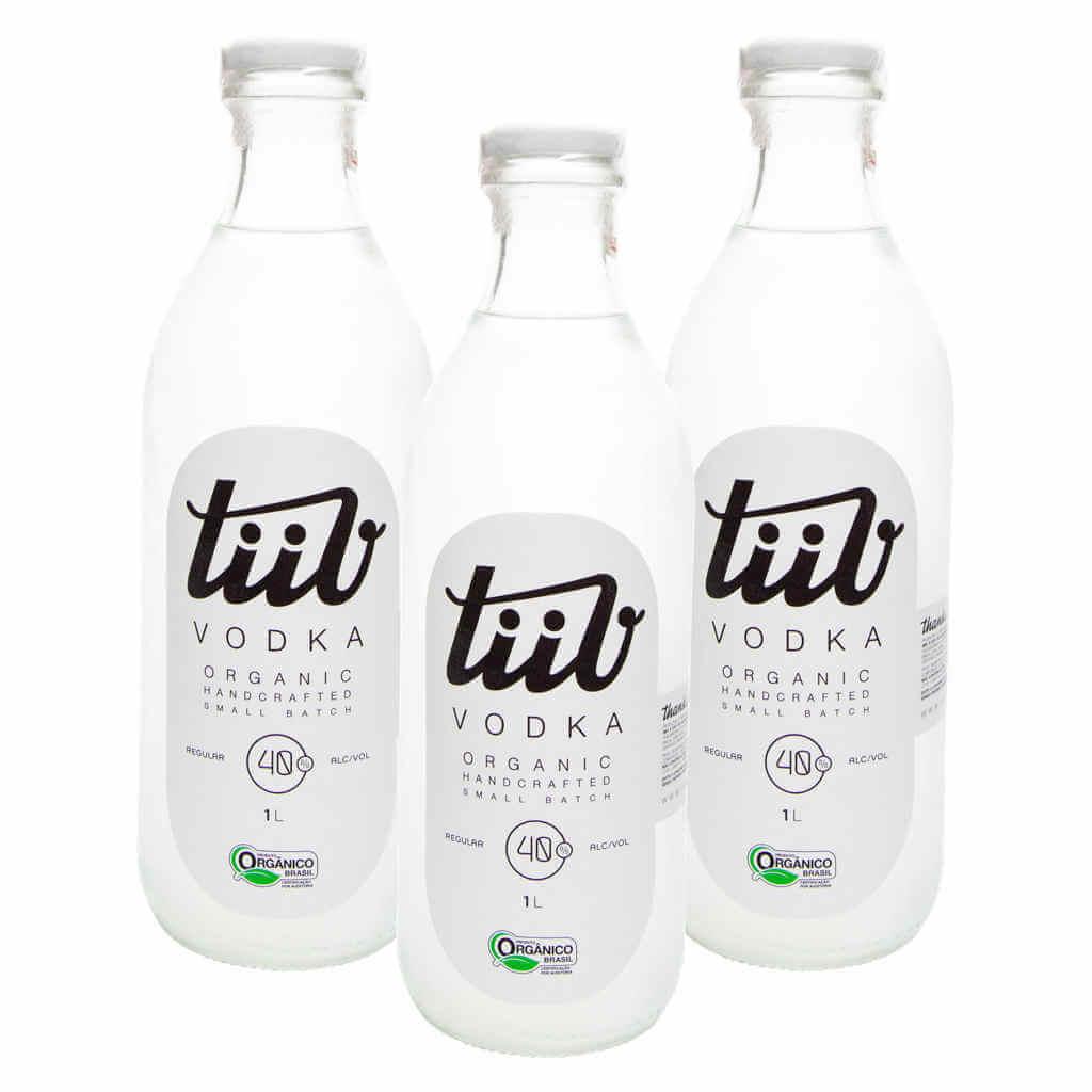 Vodka Orgânica 1L - TiiV (Kit /c 3 unidades)