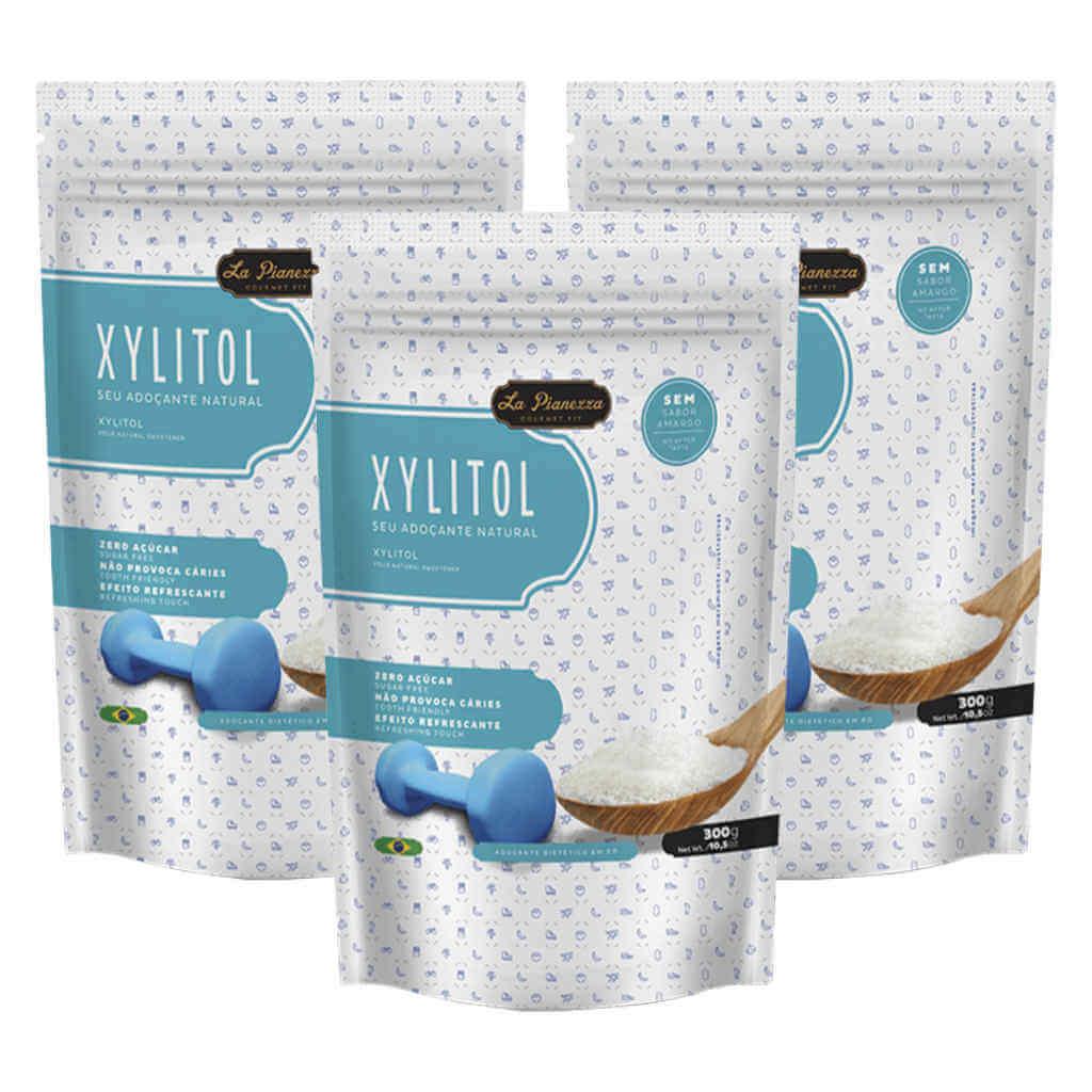 Xilitol 300g - La Pianezza (Kit c/ 3 unidades)  - Raiz Nativa - Loja de Produtos Naturais e Orgânicos Online