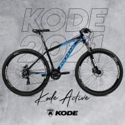 BICICLETA ACTIVE SM KODE PRETO/AZUL - (1)