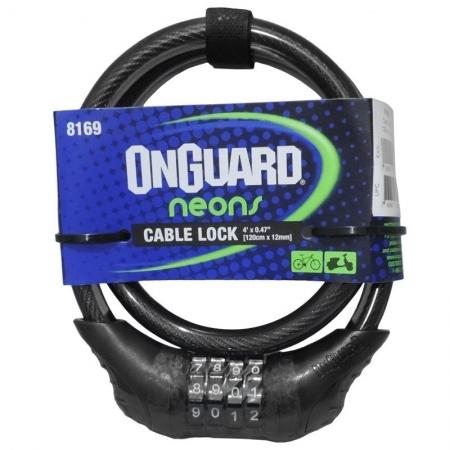CADEADO ONGUARD NEON 8169 C/SEGREDO PTO.