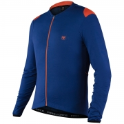CAMISA CICLISMO FREE FORCE MASC ML WINGS AZUL