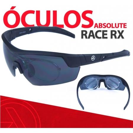 OCULOS ABSOLUTE RACE RX PRETO LENTE CINZA