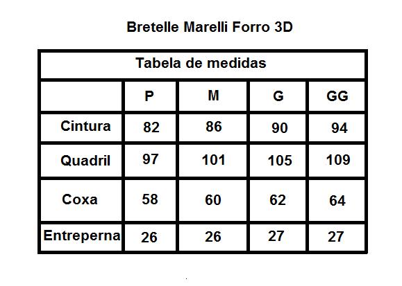 BRETELLE MARELLI FORRO 3D PRETO