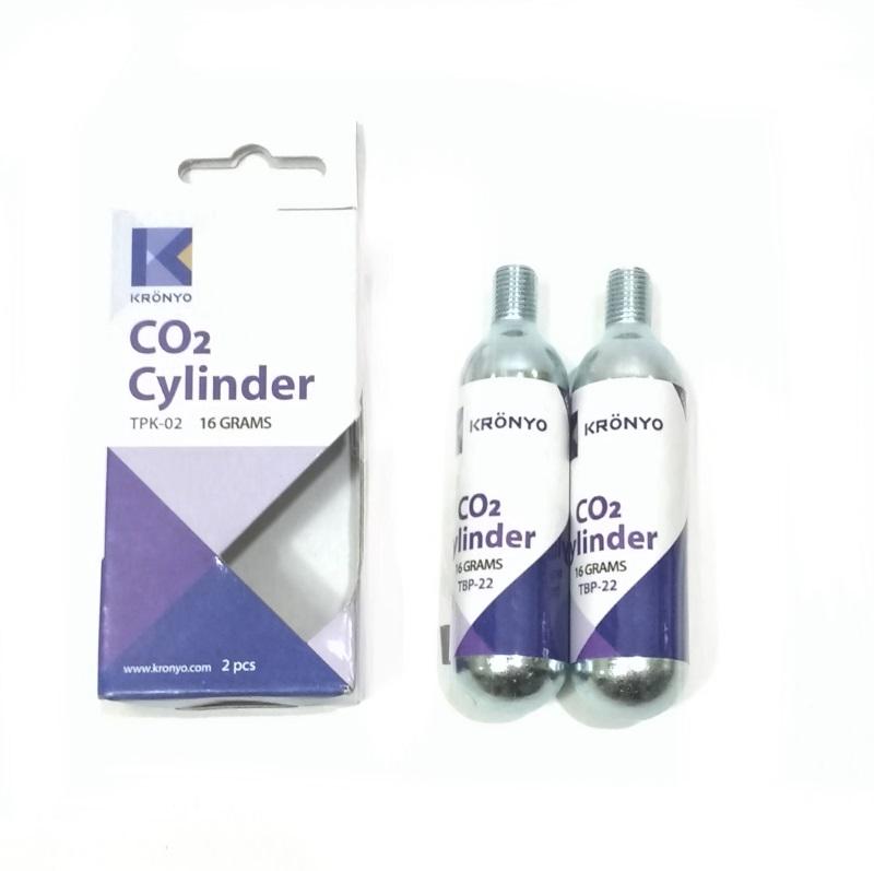 CARTUCHO CO2 TPK-02 C/ROSCA C/2 16GR.