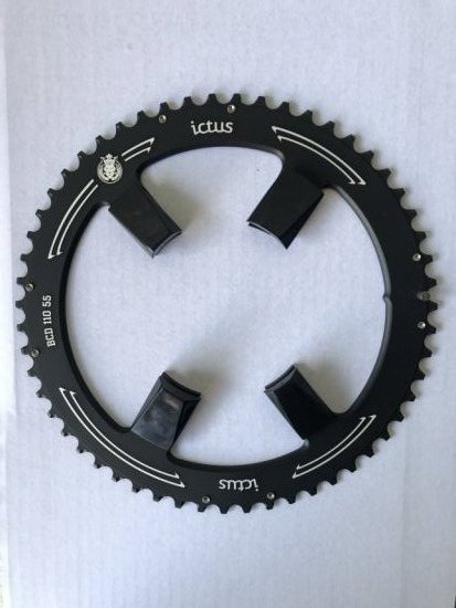 Coroa Ictus Speed Index Bcd 110 Assimetrica 55t R8000 ultegra