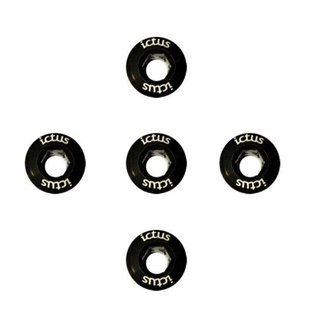 Parafuso de Coroa ictus KIT com 5 pecas Preto