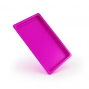 Bandeja plástica Autoclavável Maquira  22x17x1,5 -Pink