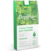 Folhas prontas depilatórias Depilflax Hortelã