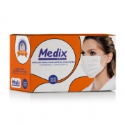 Máscara descartável tripla TNT c/ 50 - Medix