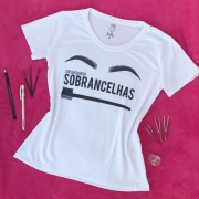 T-shirt Feminina Branca Designer Sobrancelhas - P