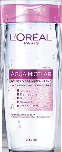 Água Micelar Solução de limpeza L'Oréal 200ml