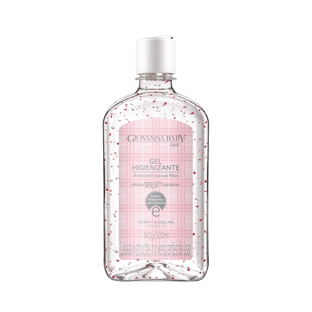 Álcool gel 70% higienizante Giovanna Baby 500ml - Classic Rosa
