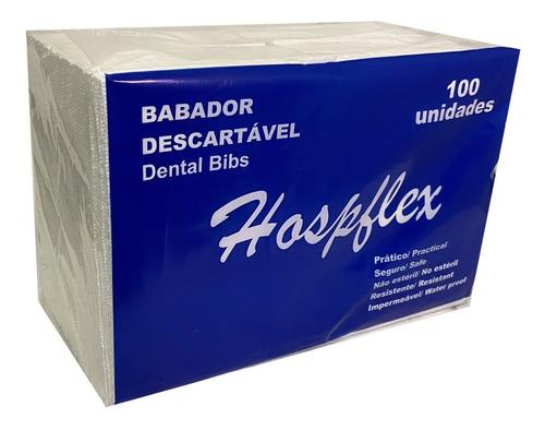 Babador odontológico impermeável Verde Hospflex - com 100