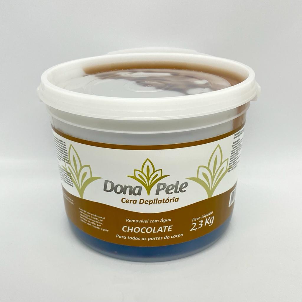 Cera depilatória hidrossolúvel Chocolate Dona Pele 2,3kg