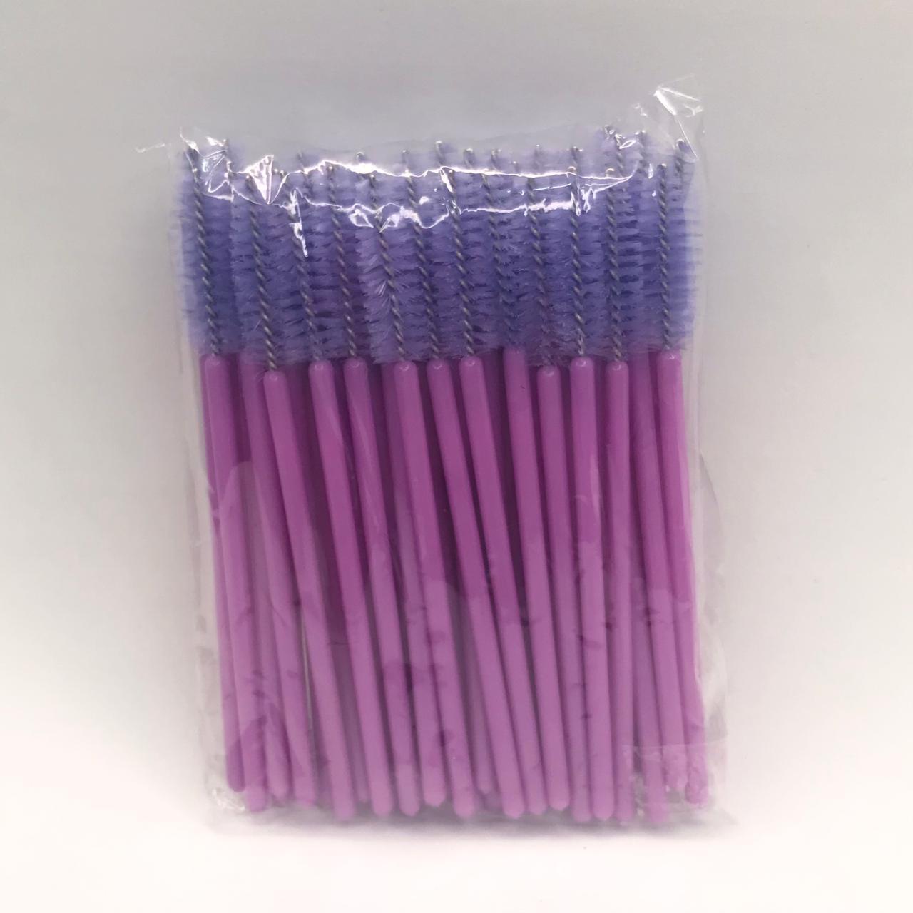 Escovinhas descartáveis para cílios e sobrancelhas c/50 - Lilás