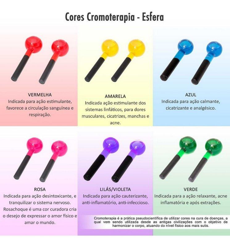 Esferas Cromoterapia ROSA  - par pequeno