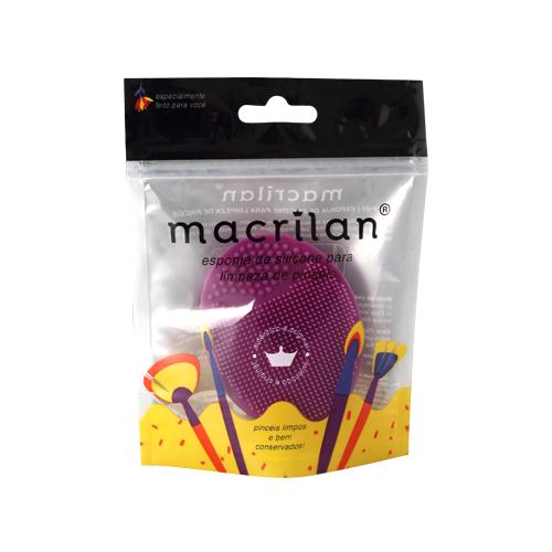 Esponja de silicone de limpeza Macrilan - roxo