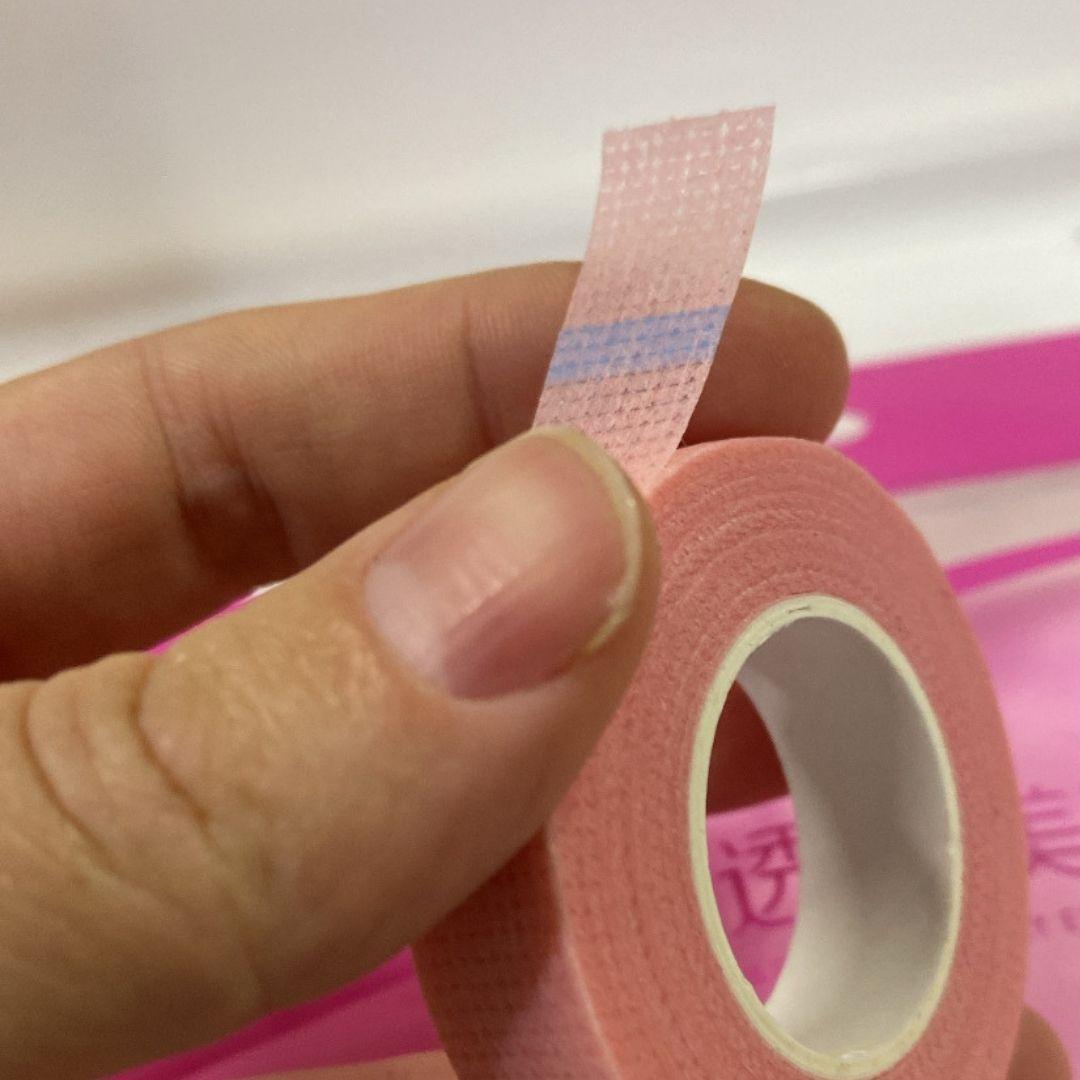 Fita micropore importada rosa 1,2cm x 9m