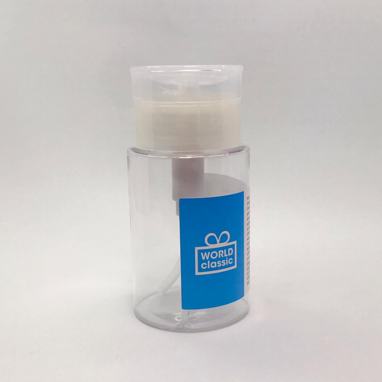 Frasco acrílico dosador tipo acetona 100ml