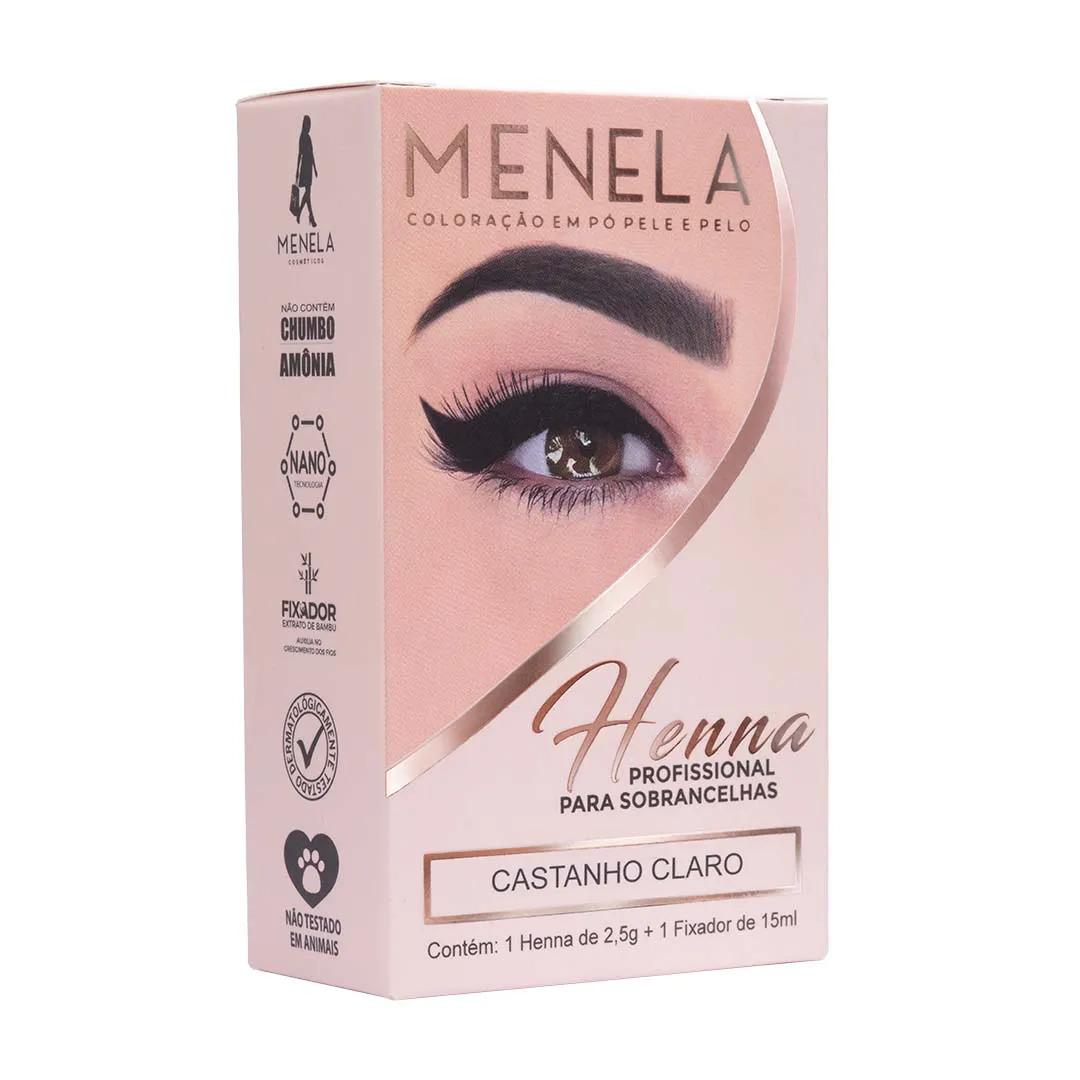 Henna Menela 2,5g - Castanho Claro