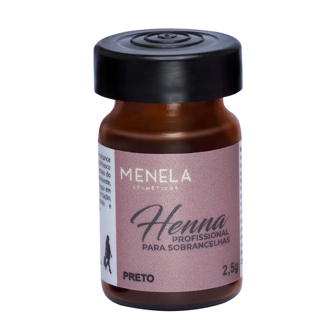 Henna Menela 2,5g - Preto