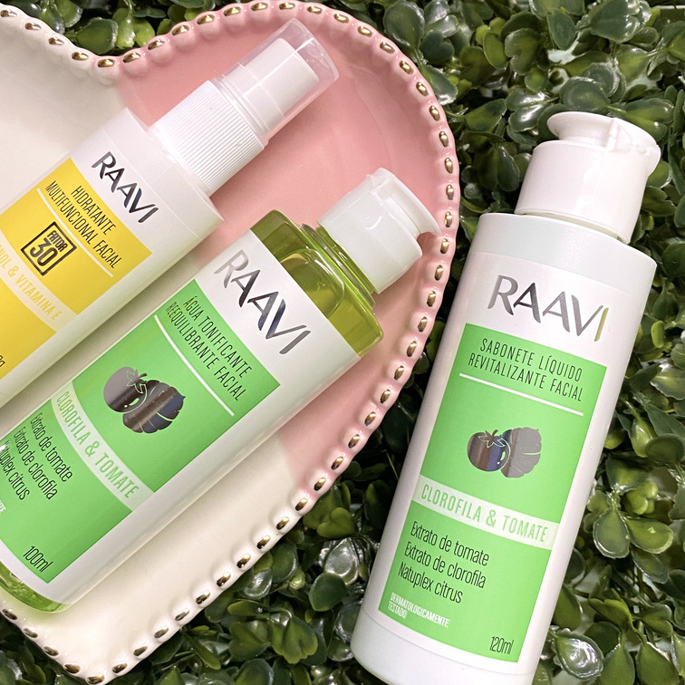 Kit facial cuidados essenciais - Raavi