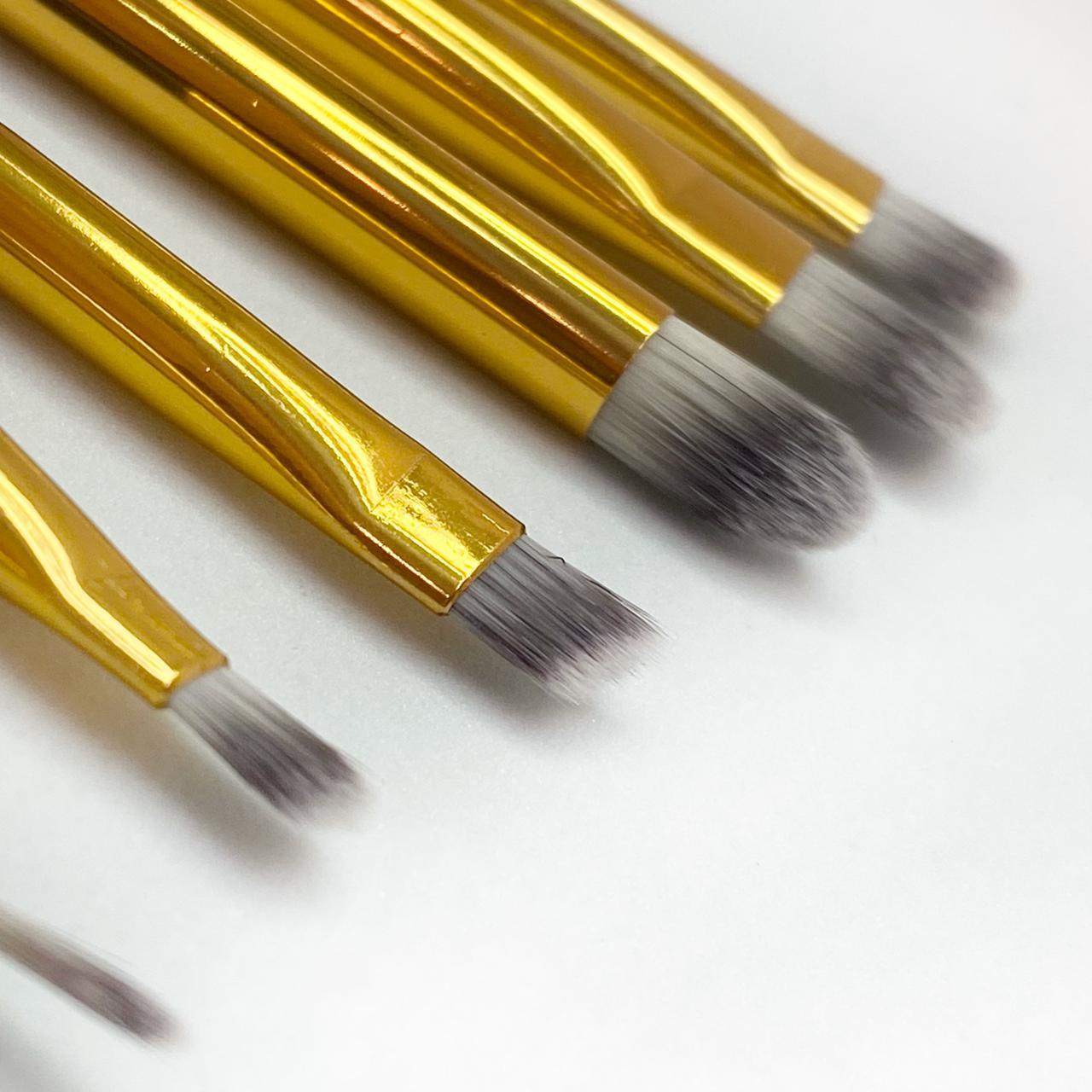 Kit pincéis para sobrancelhas Black Gold c/6