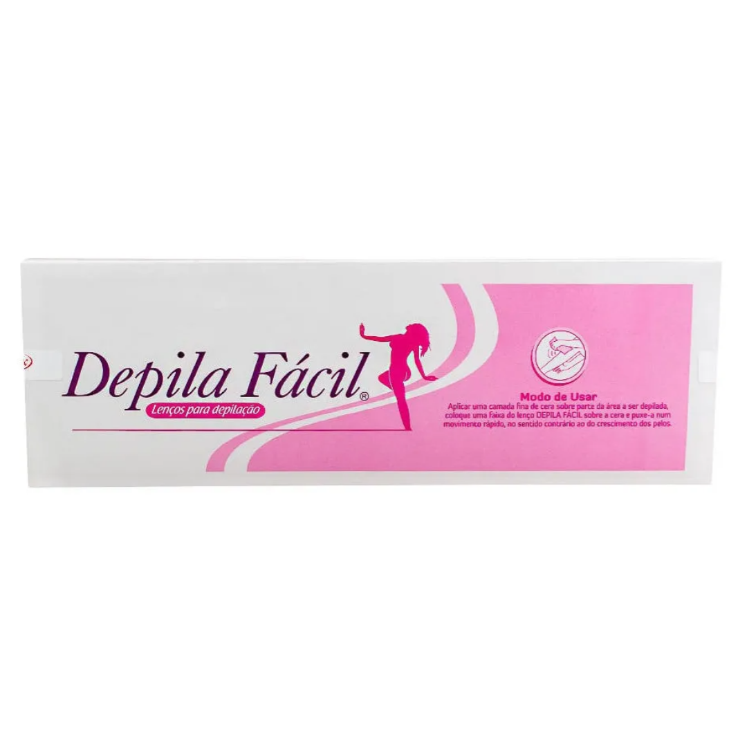 Lenço depilação Depila Fácil c/50 folhas