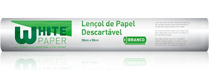 Lençol de papel Branco 50x50 - Higipratic