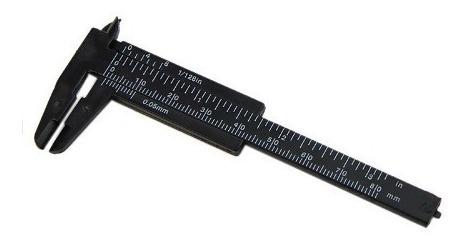 Paquímetro plástico Preto 8cm - Santa Clara