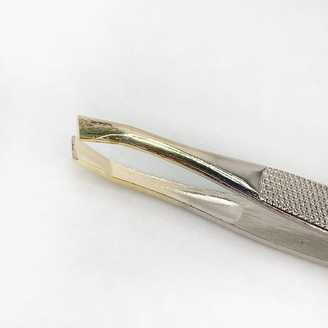 Pinça aço inox ponta chanfrada PT-26