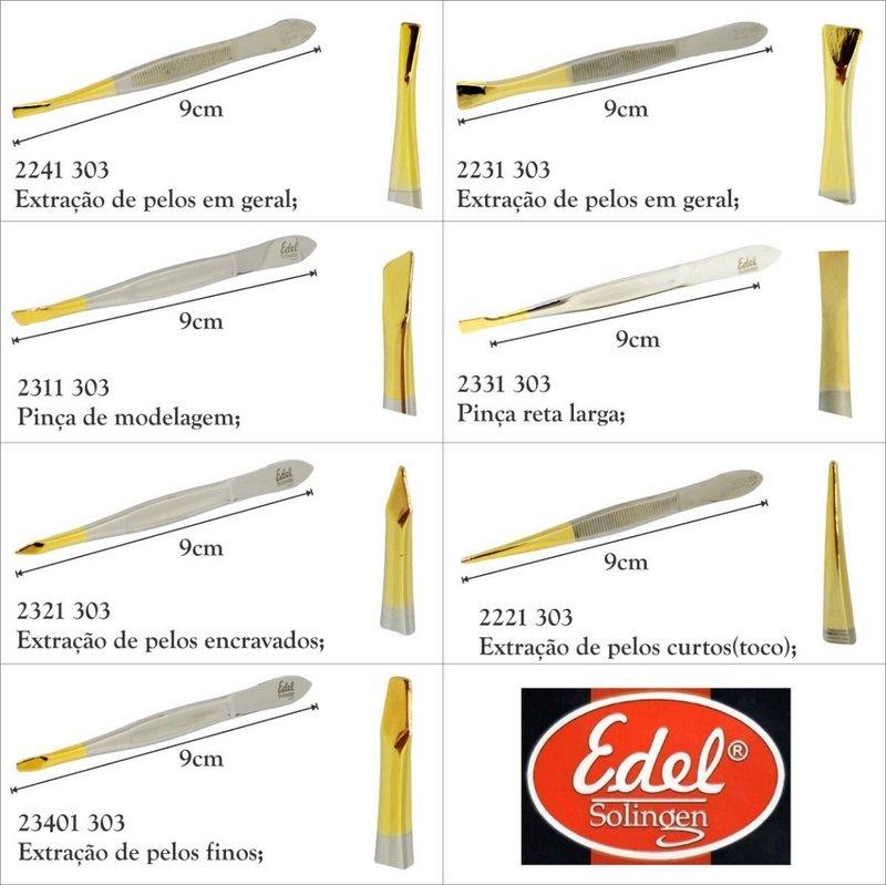 Pinça ponta reta larga canelada  - Solingen 2331.303