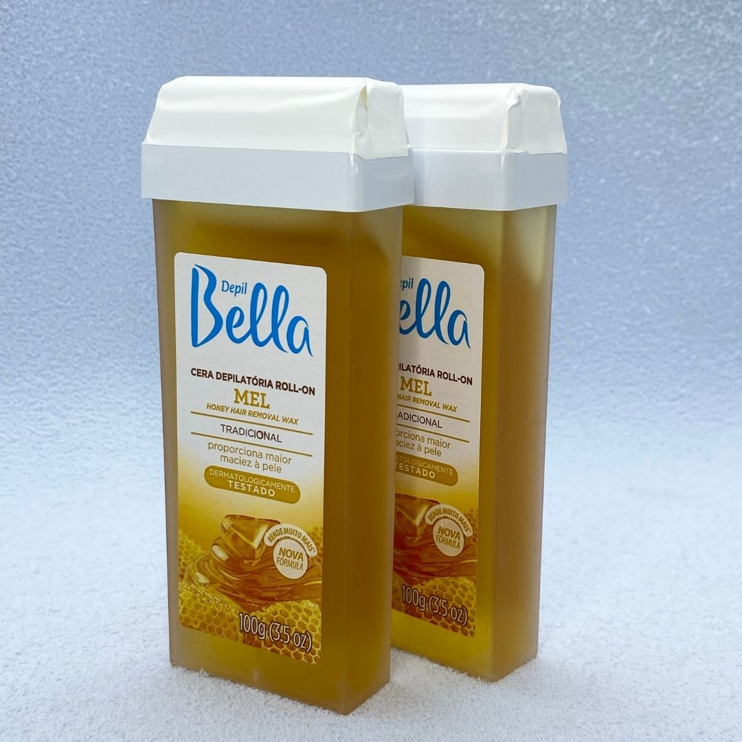 Refil Cera Depilatória Roll-on Depil Bella Mel 100G