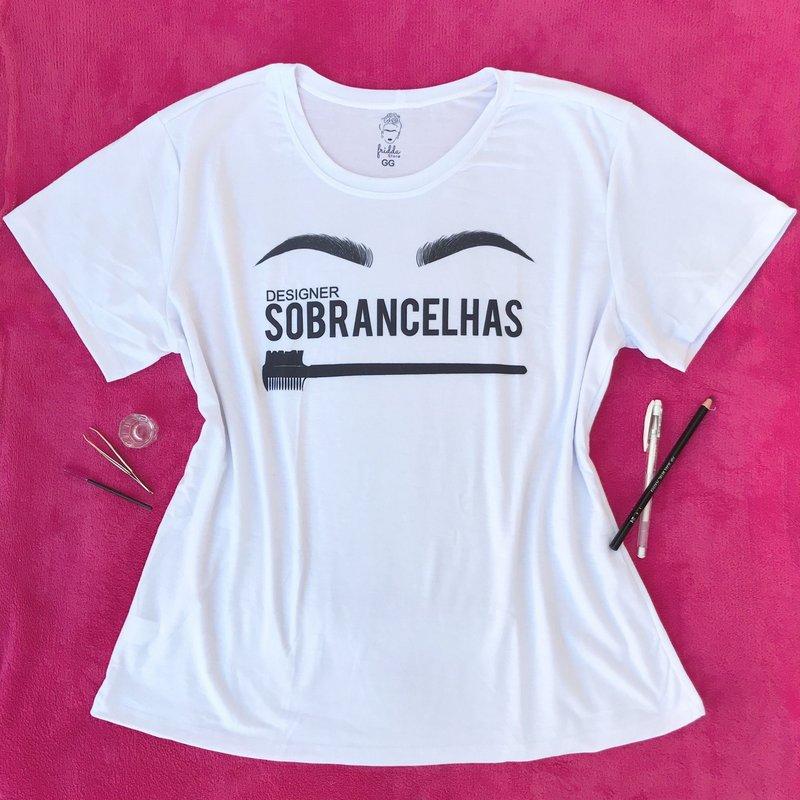 T-shirt Feminina Branca Designer Sobrancelhas - GG
