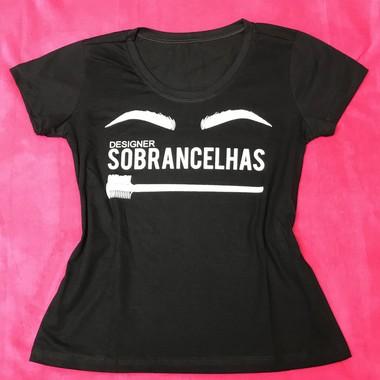 T-shirt Feminina preta Designer Sobrancelhas - P