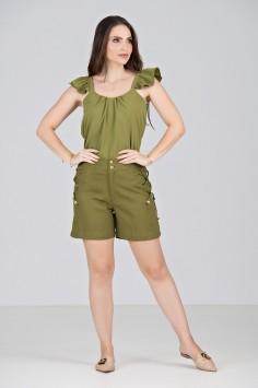 Conjunto Short em Verde Oliva - Midsize