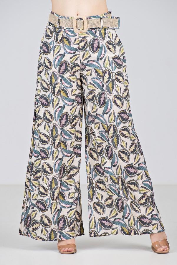 Conjunto Pantalona em Estampa de Folhagens - Midsize
