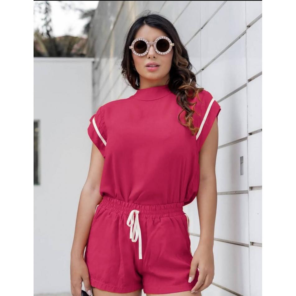 Conjunto Short e blusa Pink