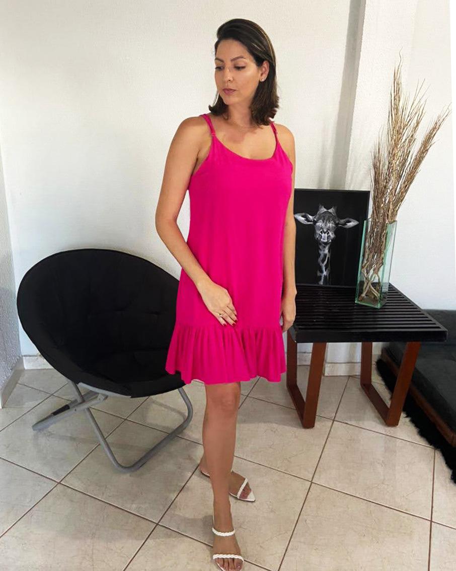 Vestido Pink Viscolinho