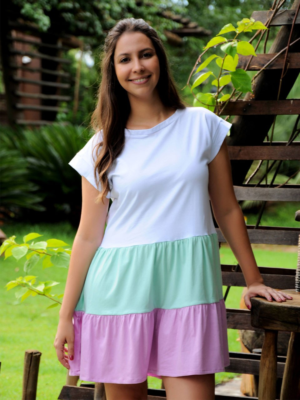Vestido Tricolor Malha