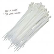 100 Abraçadeira Nylon Branca Enforca Gato 200x2,5mm Starfer