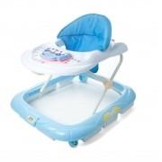 Andador Infantil Didático Interativo Atividades Musical Pianinho Baby Style - Azul