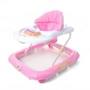 Andador Infantil Didático Interativo Atividades Musical Pianinho Baby Style - Rosa