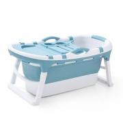 Banheira Spa Ofurô Dobrável Bend Infantil Adulto Grande 120L Azul