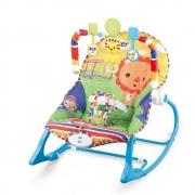 Cadeira Bebê descanso Balanço Musical Vibratória Color Leão