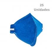 Kit 25 Peças Máscara Respiratória S/ Válvula PFF2 Delta Plus